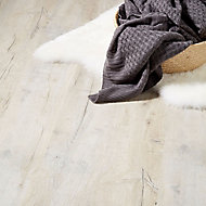GoodHome Brisbane Grey Oak effect Laminate flooring, 2m² Pack