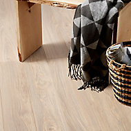 GoodHome Gawler Natural Ash effect Laminate flooring, 2.06m² Pack