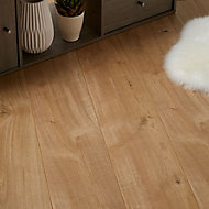 GoodHome Gladstone Natural Oak effect Laminate flooring, 2m² Pack