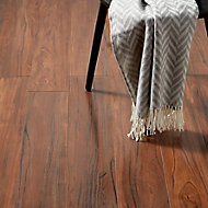 GoodHome Bannerton Mahogany effect Laminate flooring, 2.06m² Pack