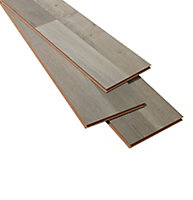 GoodHome Addington Grey Oak effect Laminate flooring, 2m² Pack