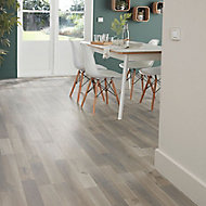 GoodHome Addington Grey Oak effect Laminate flooring, 2m²