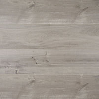 GoodHome Gladstone Grey Oak effect Laminate flooring, 2m² Pack