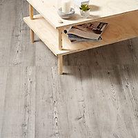 GoodHome Bailieston Grey Oak effect Laminate flooring, 2m² Pack