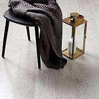 GoodHome Bannerton White Mahogany effect Laminate flooring, 2.06m² Pack