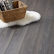 GoodHome Horsham Grey Oak effect Laminate flooring, 2.06m² Pack