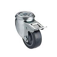Tente Braked Zinc-plated Swivel Castor, (Dia)50mm