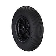 Tente Swivel Rubber Pneumatic Tyre, (Dia)400mm (W)100mm