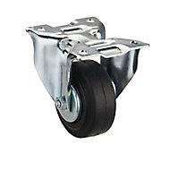 Tente Zinc-plated Fixed Castor, (Dia)80mm