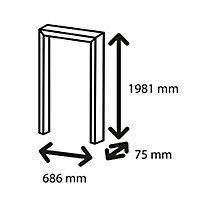 Exmoor Oak veneer Flush Internal Door frame, (H)1981mm (W)686mm