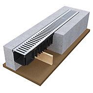 Devorex Polypropylene & galvanised steel Channel drainage & grate, (L)3m (W)134mm