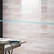 Bali Grey Matt Stone effect Ceramic Wall tile, Pack of 8, (L)500mm (W)250mm