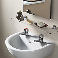 Armitage Shanks Sandringham 21 Chrome effect Basin Pillar Tap