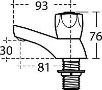 Armitage Shanks Sandringham Chrome effect Pillar Tap, Pack of 2