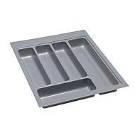 B&Q Plastic Stainless steel effect Utensil tray, (H)50mm (W)360mm