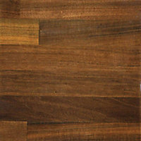 38mm Butcher's block Walnut effect Laminate Round edge Kitchen Worktop, (L)3600mm