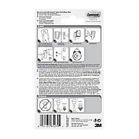 3M Command External Decorating Clear & white Adhesive clip, Pack of 20