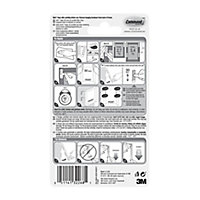 3M Command Narrow White Picture hanging Adhesive strip (Holds)5.4kg, Pack of 4