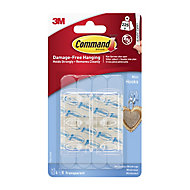 3M Command Plastic Small Hook (H)28mm (W)98mm (Max. Weight)0.23kg, Pack of 6