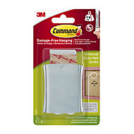 3M Command Steel effect Metal Jumbo Single Picture hanging Sticky nail (H)76.2mm (W)31mm (Max. Weight)3.6kg