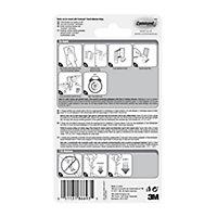 3M Command White Plastic Utensil Hook (H)45mm (W)98mm, Pack of 3