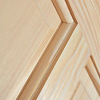 4 panel Clear pine LH & RH Internal Door, (H)1981mm (W)610mm