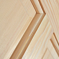4 panel Clear pine LH & RH Internal Door, (H)1981mm (W)762mm