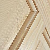 4 panel Clear pine LH & RH Internal Door, (H)2040mm (W)726mm