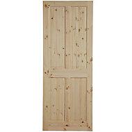 4 panel Knotty pine LH & RH Internal Door, (H)1981mm (W)762mm