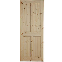 4 panel Knotty pine LH & RH Internal Door, (H)1981mm (W)762mm