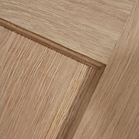 4 panel Oak veneer LH & RH Internal Door, (H)2040mm (W)826mm