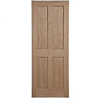 4 panel Oak veneer LH & RH Internal Fire Door, (H)1981mm (W)762mm (T)44mm