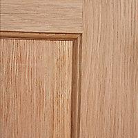 4 panel Oak veneer LH & RH Internal Fire Door, (H)1981mm (W)838mm