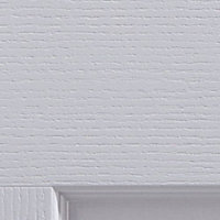 4 panel Primed White Woodgrain effect LH & RH Internal Door, (H)1981mm (W)762mm