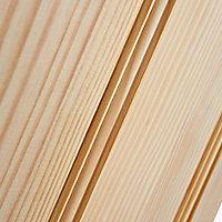 4 panel Traditional Clear pine LH & RH Internal Door, (H)1981mm (W)610mm