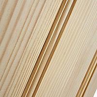 4 panel Traditional Clear pine LH & RH Internal Door, (H)1981mm (W)686mm
