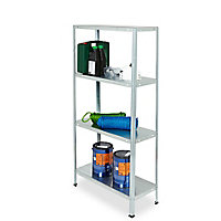 4 shelf Steel Shelving unit (H)1400mm (W)700mm