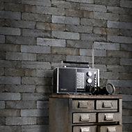Black Brick Matt Wallpaper