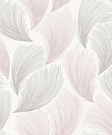 Rasch Grey & pink Feather Glitter effect Wallpaper