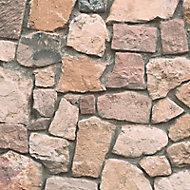 A.S. Creation Dekora natural Brown, cream & grey Stone Embossed Wallpaper