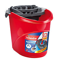 Vileda Red Plastic Bucket & wringer