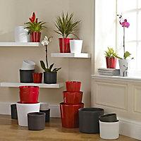 Glazed Red Ceramic Plant pot (Dia)23cm