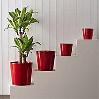Glazed Red Ceramic Plant pot (Dia)24cm