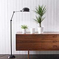 Merina Glazed White Plant pot (H)150mm (Dia)160mm