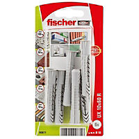 Fischer Nylon Wall plug (L)60mm (Dia)10mm, Pack of 6