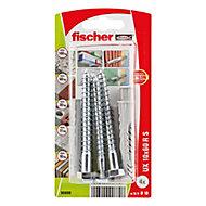 Fischer Nylon & steel Wall plug (L)60mm (Dia)10mm, Pack of 4