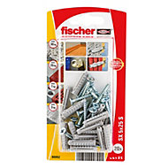 Fischer Nylon plug (Dia)5mm (L)25mm, Pack of 20