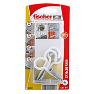 Fischer Nylon plug (Dia)6mm (L)50mm, Pack of 4