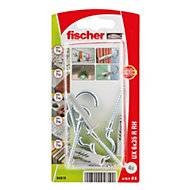 Fischer Universal nylon plug (Dia)6mm (L)35mm, Pack of 4