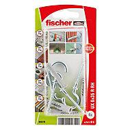 Fischer Universal nylon plug (Dia)6mm (L)35mm, Pack of 4